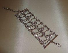 rhinestone flower pattern bracelet fashion jewelry find me at www.dandeepop.com
