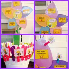 Ich bin fertig.... was kann ich jetzt machen?-Blume für die fleißigen Bienchen meiner Klasse!