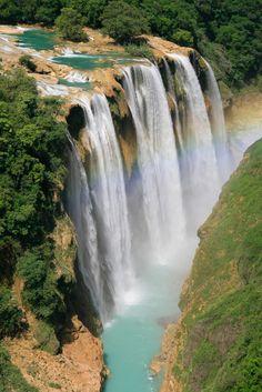 Você realmente sabia? Foto Arte: Cachoeiras de Tamil - México