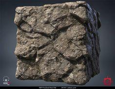 PBR Procedural Rock Wall Material Study 01, Joshua Lynch on ArtStation at https://www.artstation.com/artwork/xeLvW