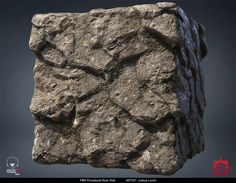 PBR Procedural Rock Wall Material Study 01, Joshua Lynch on ArtStation at https://www.artstation.com/artwork/xeLvW