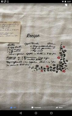 Traced recipe onto htv