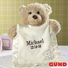 Embroidered Peek-A-Boo Gund® Bear - Baby Gifts - Baby Gifts