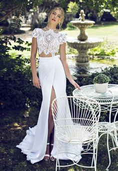 riki dalal two piece wedding gown