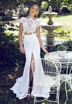 riki dalal two piece wedding gown