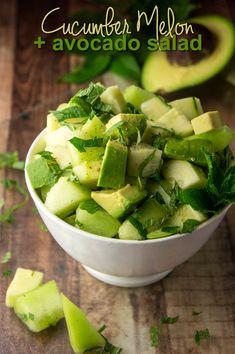 Cucumber, Melon + Avocado Salad — Foraged Dish