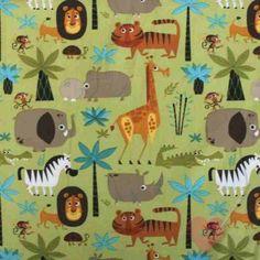 """Amerikanischer Quiltstoff """"Kolea"""" mit wilden Tieren  aus 100% Baumwolle EUR 12,50 per m"""