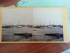 Antique stereo photo/stereoview The Faid Gahaad-The Pasha of Egypt's yacht, ship Vintage Photos, Egypt, Ship, Antiques, Vehicles, Painting, Ebay, Art, Antiquities