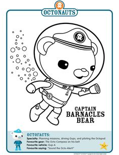 Octonauts Printable Coloring Pages Mewarnai Party ideas