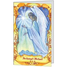Archagnel Michael Greeting Card $4.00 | A.O.K. Angels http://aokangels.com.au/aok-angels-shop/archangel-michael/archangel-michael-greeting-card.html