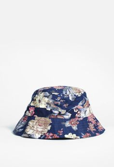 Profound Aesthetic Navy Paradise Floral Bucket Hat http://profoundco.com/collections/hats/products/navy-paradise-floral-bucket-hat