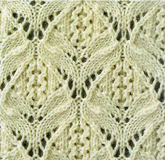 Knitted lace patterns. The site's in Russian, but the patterns are charted.