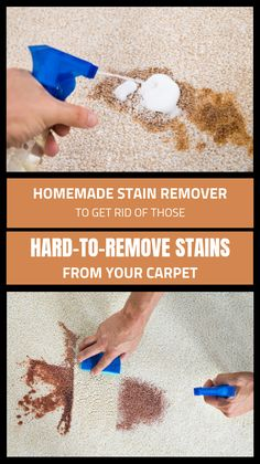 , Homemade Stain Remover To Get Rid Of These Hard-To-Remove Stains From Your Carpe. , Homemade Stain Remover To Get Rid Of These Hard-To-Remove Stains From Your Carpet Deep Cleaning Tips, House Cleaning Tips, Cleaning Solutions, Spring Cleaning, Cleaning Hacks, Cleaning Supplies, All You Need Is, Homemade Stain Removers, Charles Ray Eames