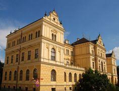 South Bohemian museum in České Budějovice, Czechia Czech Republic, Prague, Notre Dame, Bohemian, Museum, Mansions, House Styles, City, Building