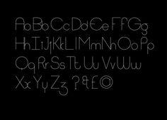 Quantis Typeface Design by Ben Wood, via Behance