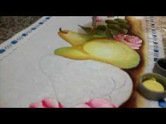 Como pintar pêras, no tecido - dicas de pintura para iniciantes - YouTube