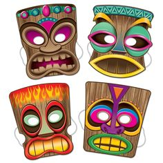 "Highlights: - elastic attached - 10"" - (4/Pkg) - packages per case: 12 Details: Mask Up! Wear a Tiki Mask at a luau themed party! Each package contains 12 elastic attached items. Size: 10''. elastics attached 4 Each per Package. You get 6 Packages for this price."