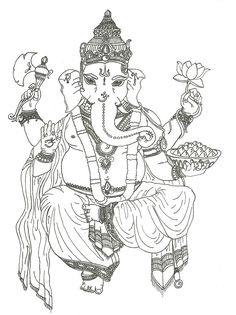 ganesha coloring pages all about india