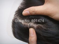 human hair closure piece 002