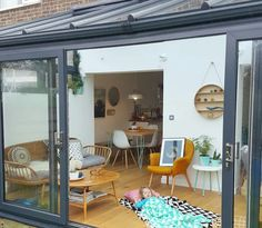 How to extend your home with style, for less than you might think. - Alice in Scandiland - Our extension plays such an important role in our home life, it has brought us a sense of freedom, - House Extension Design, Glass Extension, Extension Designs, House Design, Kitchen Extension Small House, Rear Extension, Extension Ideas, Garden Design, Modern Conservatory