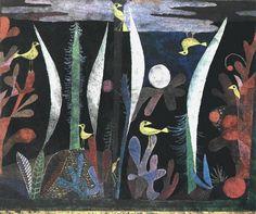 クレー ≪ 黄色い鳥のいる風景 ≫ 1923 | 35.5 x 44 cm |バーゼル 個人蔵