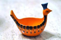 Mid Century Ceramic Bird Bowl Made in Italy by deedee914 on Etsy, $45.00