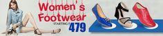 Buy Women footwear @ best price from EBazar.Ninja . Explore the wide range of Women footwear like loafers, Sneakers, wedges, Ballerinas, Casual shoes, Slippers & Flip Flops, Sports Shoes, Sandals etc. Just click on the following link to buy now!! http://www.ebazar.ninja/page/footwear