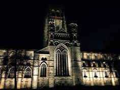 @0Mather - @EcophonUK #verticalview A lovely photo of Durham Cathedral looking stunning lit up!