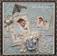 Baby Cards Tiny& Cards: First baby card Scrapbook Examples, Scrapbook Layout Sketches, Scrapbooking Layouts, Baby Girl Scrapbook, Baby Scrapbook Pages, Scrapbook Cards, Baby Boy Cards, New Baby Cards, Baby Mini Album