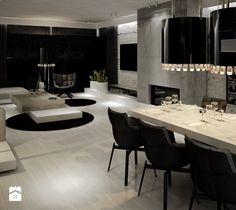 Dom B - projekt wnetrza - Jadalnia, styl glamour - zdjęcie od Otwarte Studio Sztuka