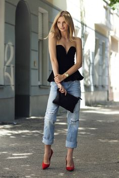 Street Style black heels jeans fashion photography |2013 Fashion High Heels|