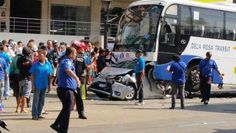 Car pinned by bus on EDSA is most horrific thing you'll see this week Top Gear, Automotive Industry, Philippines, Baby Strollers, Author, Photography, Baby Prams, Photograph, Fotografie