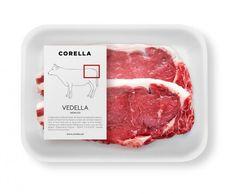 Corella Vedella - serie de packaging muy didacticos