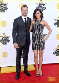bbbc3894430  Dierks Bentley  Cassidy Black  Red Carpet  ACM Awards  Dress  Suit