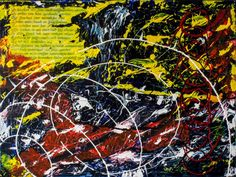 Nooit uitgesproken woorden, schilderij van Christian van Hedel .. Kunst / Abstract / Modern / Schilderij
