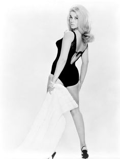 Ann-Margret in a black bodysuit