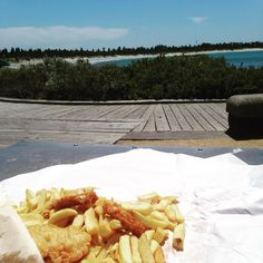 Fish and chips for lunch by the beach #warrnambool #holidays @emjanewright by pwbamford
