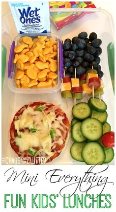 Mini Everything: another way to make kids' lunches more fun