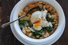 bean bowl with poached egg-3