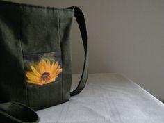 Hip bag w/patchwork Merigold Flower by lstonerockdesigns on Etsy, $35.00