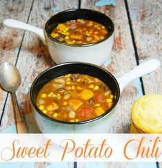 Make healthy eating a priority with this hearty vegetarian meal of Sweet Potato Chili.