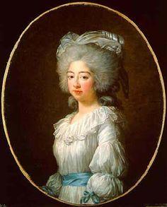 Portrait of Marie Joséphine of Savoy by Louise Élisabeth Vigée Le Brun, 1782