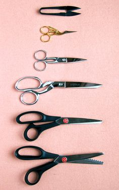 Great list of sewing scissors and why you need each of them