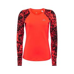 Adidas Techfit Climawarm dotted T-shirt ($45) ❤ liked on Polyvore featuring activewear, activewear tops, adidas activewear, adidas, bra top, adidas sportswear and neon activewear