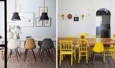 Des chaises dépareillées, c'est devenue tendance! Nos 4 astuces pour faire une composition harmonieuse, personnelle et éviter un style désordonné.