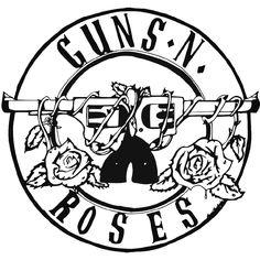 Guns N Roses Rock Band Logo Vinyl Decal Sticker BallzBeatz . com