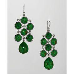 Elizabeth Showers Juliette Chandelier Earrings ($595) ❤ liked on Polyvore featuring jewelry, earrings, green, cabochon jewelry, green jewelry, elizabeth showers jewelry, green chandelier earrings and chandelier jewelry