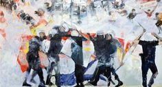 Bu sergide Gezi direnişi de var - Türkiye 'de 'toplumsal gerçekçi' resmin yaşayan en önemli isimlerinden Cihat Aral, kendi deyimiyle 'zamana tanıklı eden' resimleriyle İş Sanat Kibele Galerisi'ne konuk oluyor. Aral'ın çeşitli dönemlerinden eserleri içeren sergide ünlü ressamın 1 Mayıs gösterileri ve Gezi direnişi gibi toplumsal olayları yorumladığı yeni tabloları da yer alıyor.  http://www.radikal.com.tr/hayat/bu_sergide_gezi_direnisi_de_var-1168901