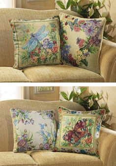 Garden Floral Reversible Pillow Covers - Set of 2