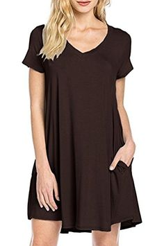 Special Offer: $16.99 amazon.com Women's Casual Plain Simple Pocket T-shirt Loose Dress Lightweight, soft and stretchy Main material:cotton Unique style,make you beautiful,fashionable,sexy and elegant. Please check the measurement chart carefully before you buy the item. Size Chart:...